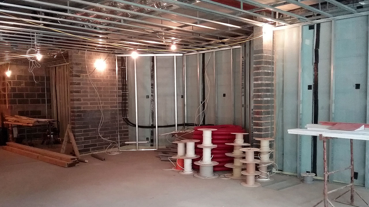 Internal photo from a new build basement project in Ascot